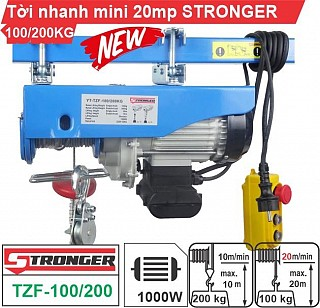 Tời Nhanh MINI STRONGER cho xây dựng YT-TZF 100/200kg -